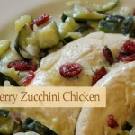 Cranberry Zucchini Chicken in Coconut Milk