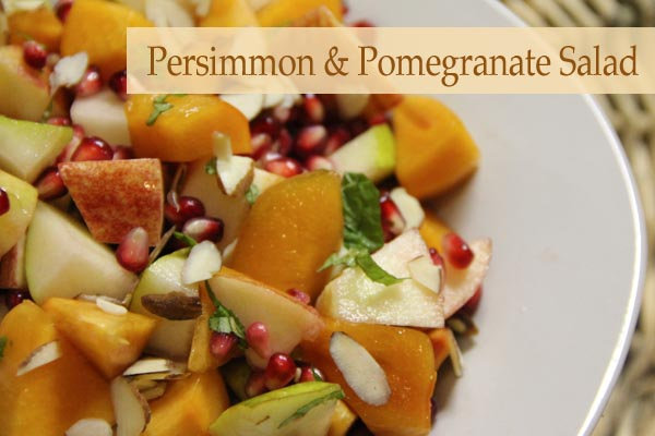 Persimmon and Pomegranate Salad - scrumptiousmoms