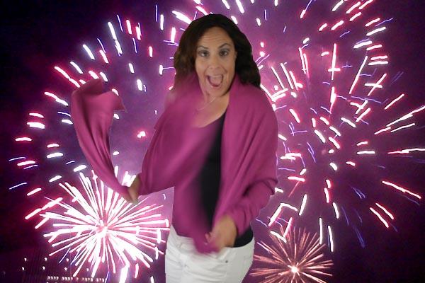 Val w. fireworks
