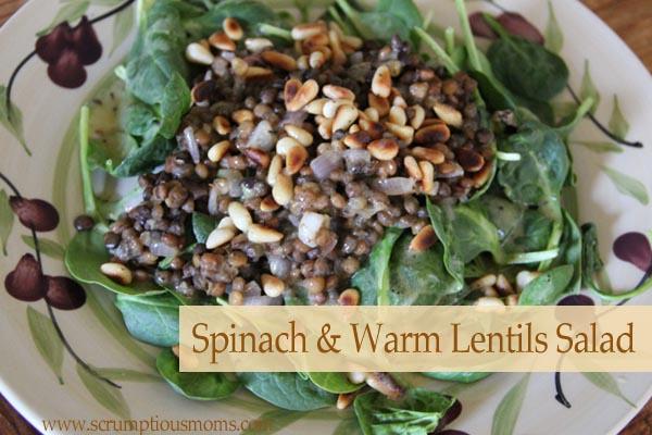 SpinachLentilSalad