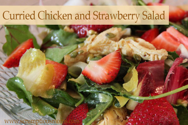 CurriedChickenStrawberrySalad