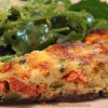 Smoked Salmon & Zucchini Quiche in Buckwheat Crust