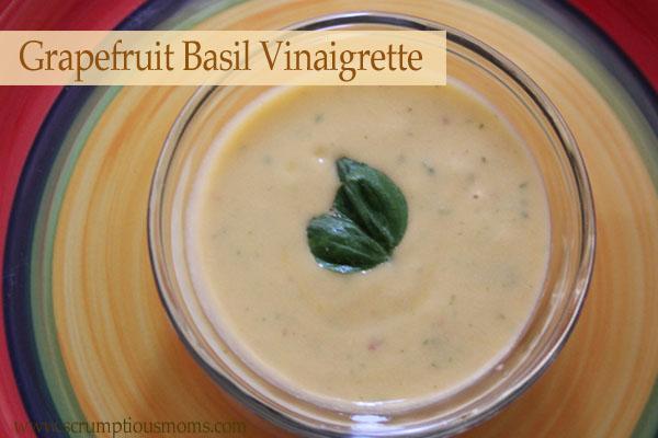 Dairy Free Creamy Grapefruit Basil Vinaigrette