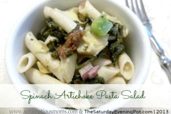 SpinachArtichokePastaSalad