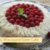 Raspberry Mascarpone Easter Cake