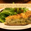 Potato Leek Quiche in Buckwheat Crust