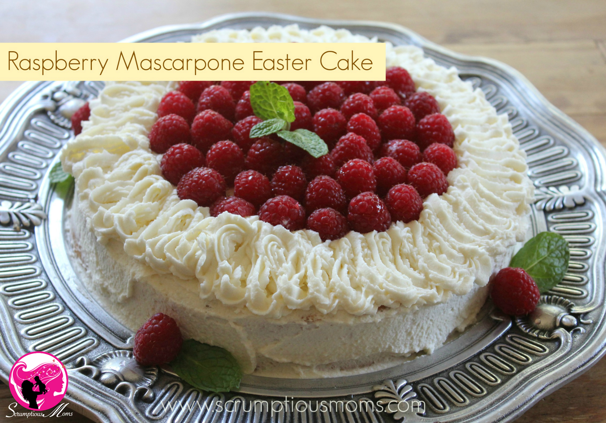 Raspberry Mascarpone Easter Cake title image