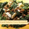 Kale and Lentil Salad in Curry Vinaigrette