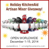 Holliday KitchenAid Artisan Mixer Giveaway