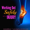Working Out Safely With An Injury square title image