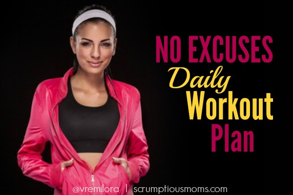 No Excuses daily Workout Plan title image