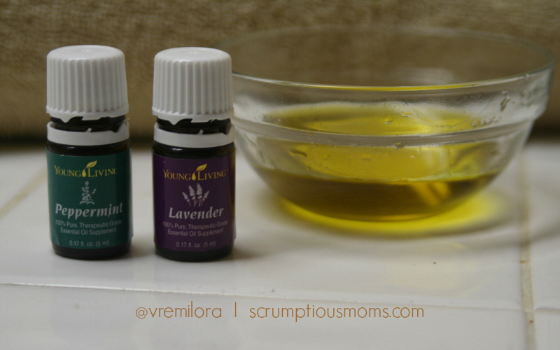 Olive oil with peppermint and lavender
