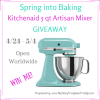 Spring KitchenAid Mixer Giveaway title image