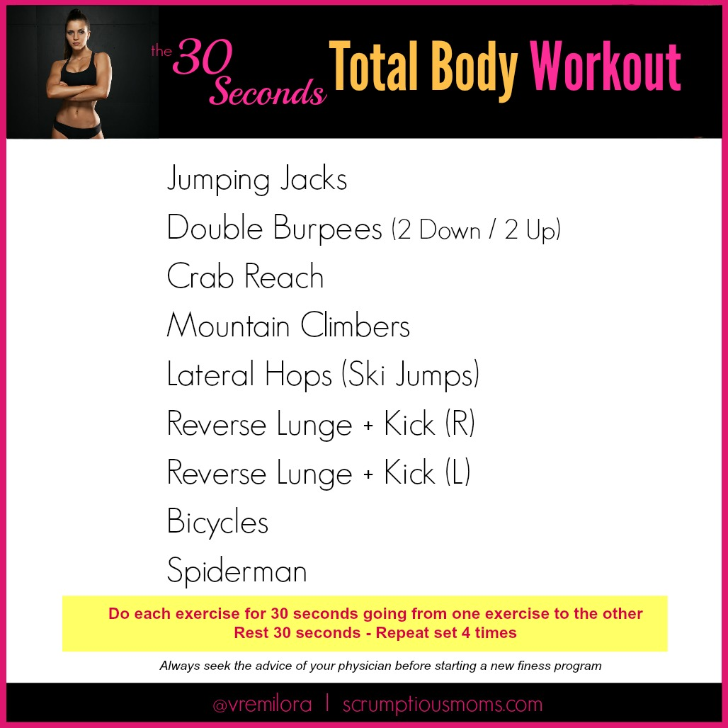 30 seconds workout exercise list