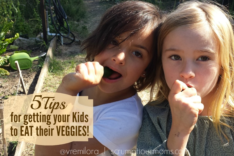 5 tips for getting kids to eat their vegetables title image