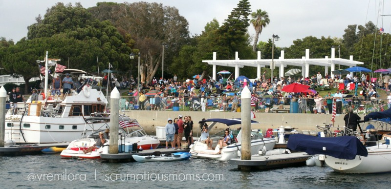 Fourth of July Crowd at Marina Del Rey