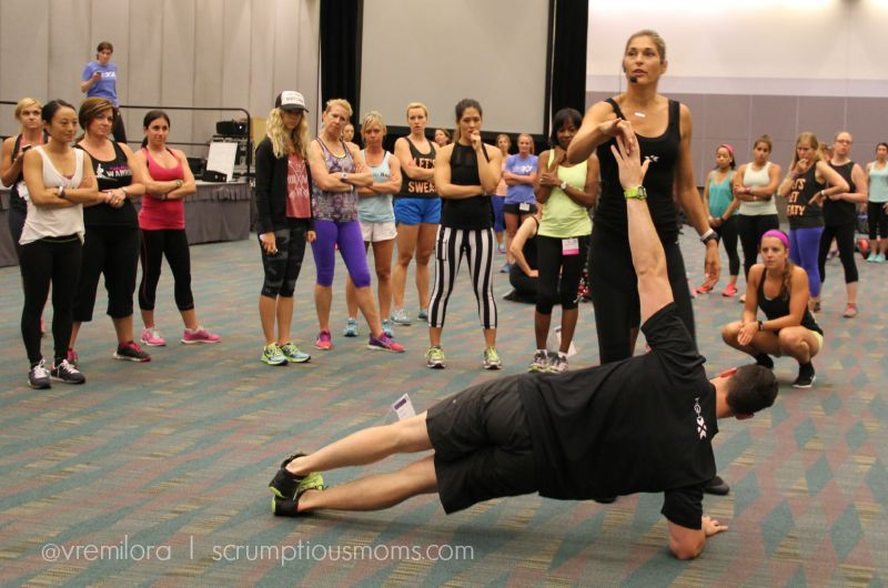 Gabby Reece and Mark show proper side plank