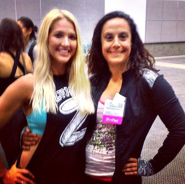 Posing with Zumba Master Instructor Marcie Benavides