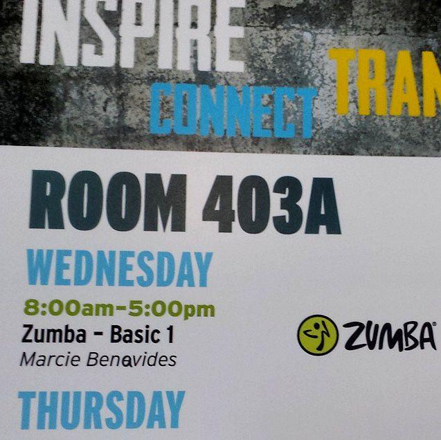 CU Zumba master class listing