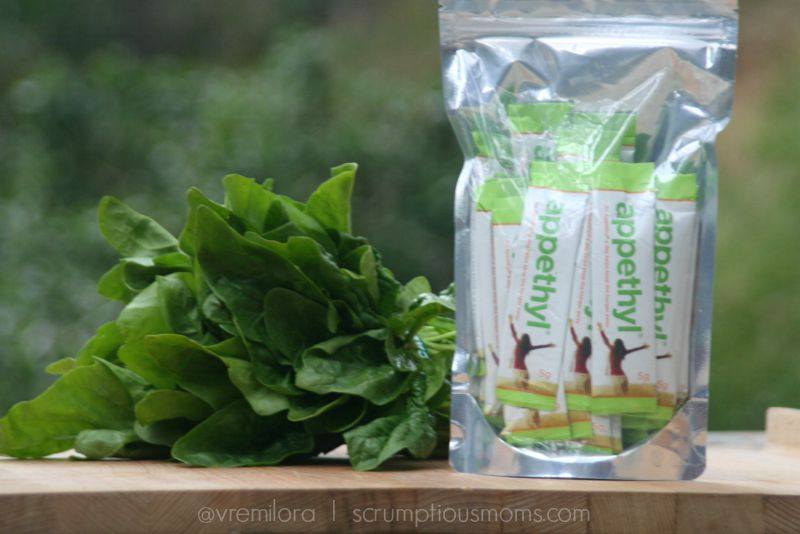 Appethyl package with spinach