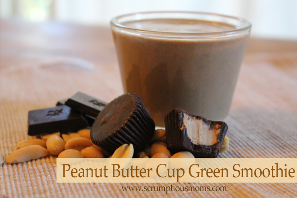 Peanut butter cup green smoothie