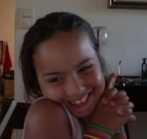 Sabrina smiling on Skype