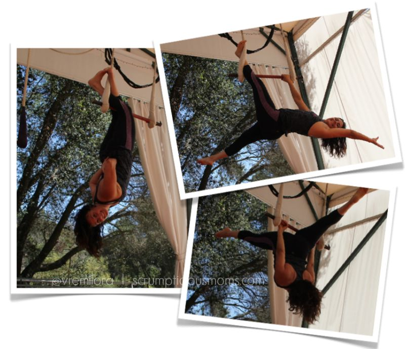 training on a trapeze