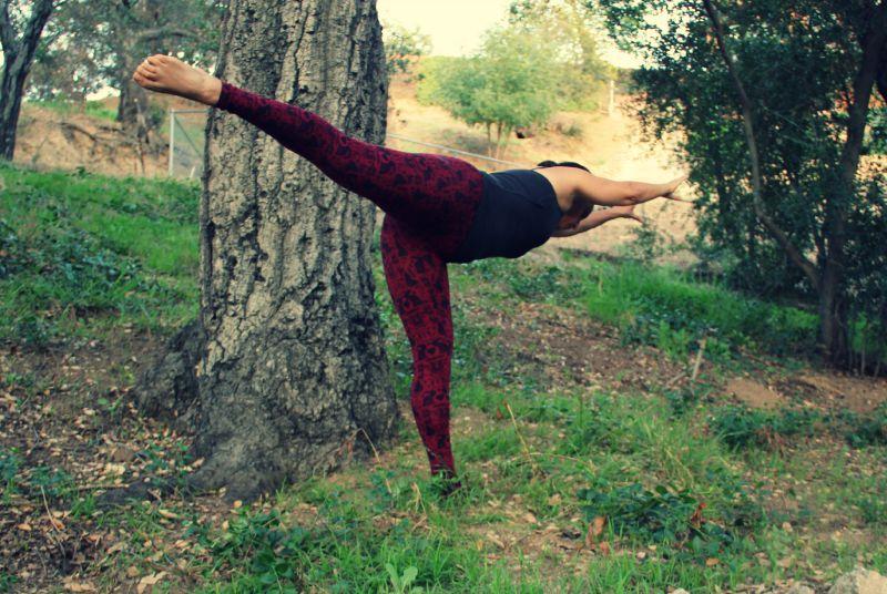 Arabesque among trees