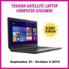 Toshiba Satellite Laptop Computer Giveaway