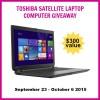 Toshiba Satellite Laptop giveaway title image