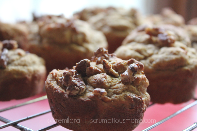 Spiced Motivator Muffin on baking rack