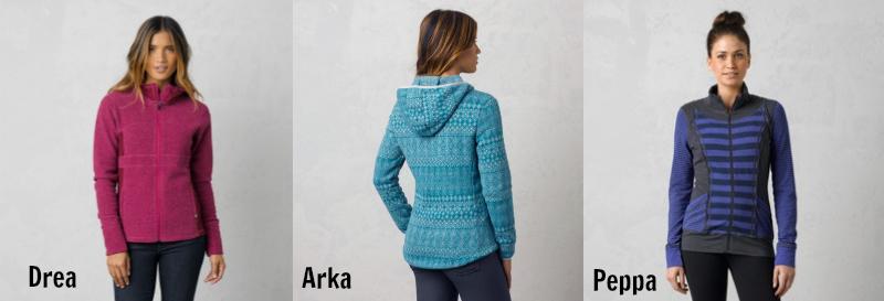 three prAna jackets