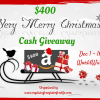 Very Merry Christmas $400 Cash Giveaway