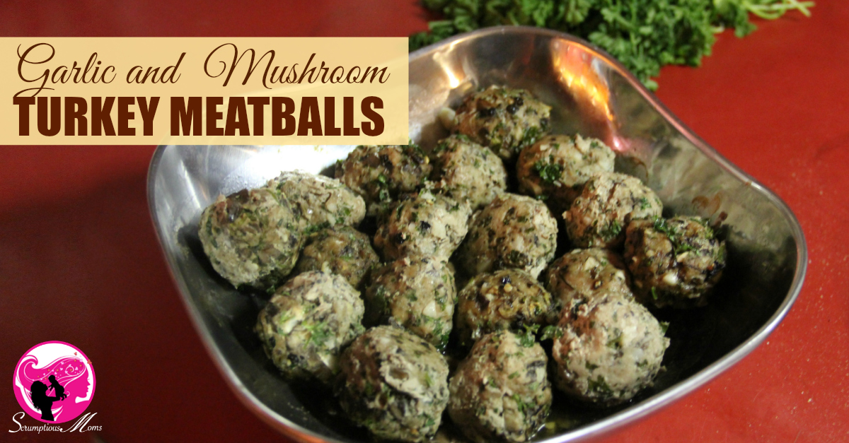 Garlic and Mushroom turkey Meatballs recipe image