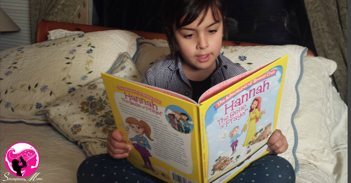 Young girls reading Hannah the Belle of Prayer