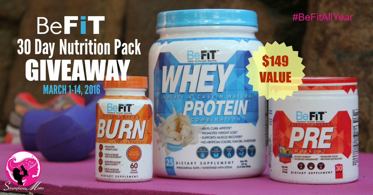BeFit 30 day nutrition pack giveaway graphic