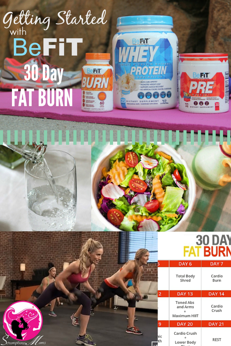 Be Fit 30 Day Fat Burn Program intro graphic