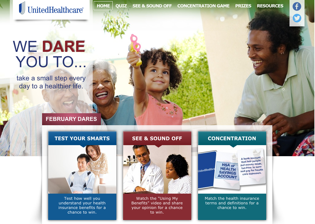 United Healthcare February Dares