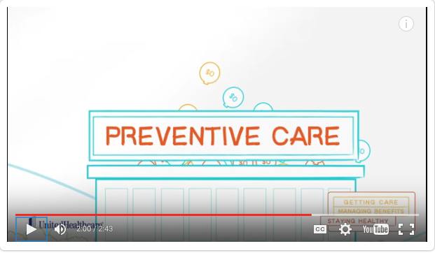 screen capture from United Healthcare video