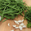 Ingredients for garlic green beans
