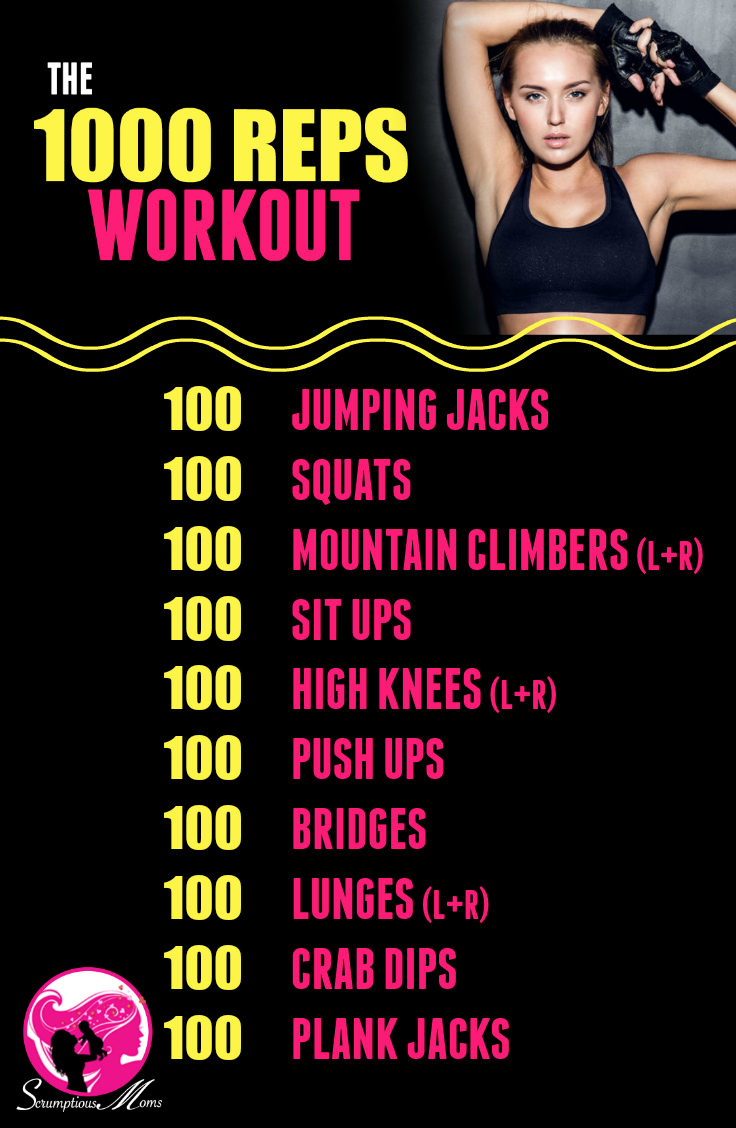 The 1000 Reps Workout List of Exercises