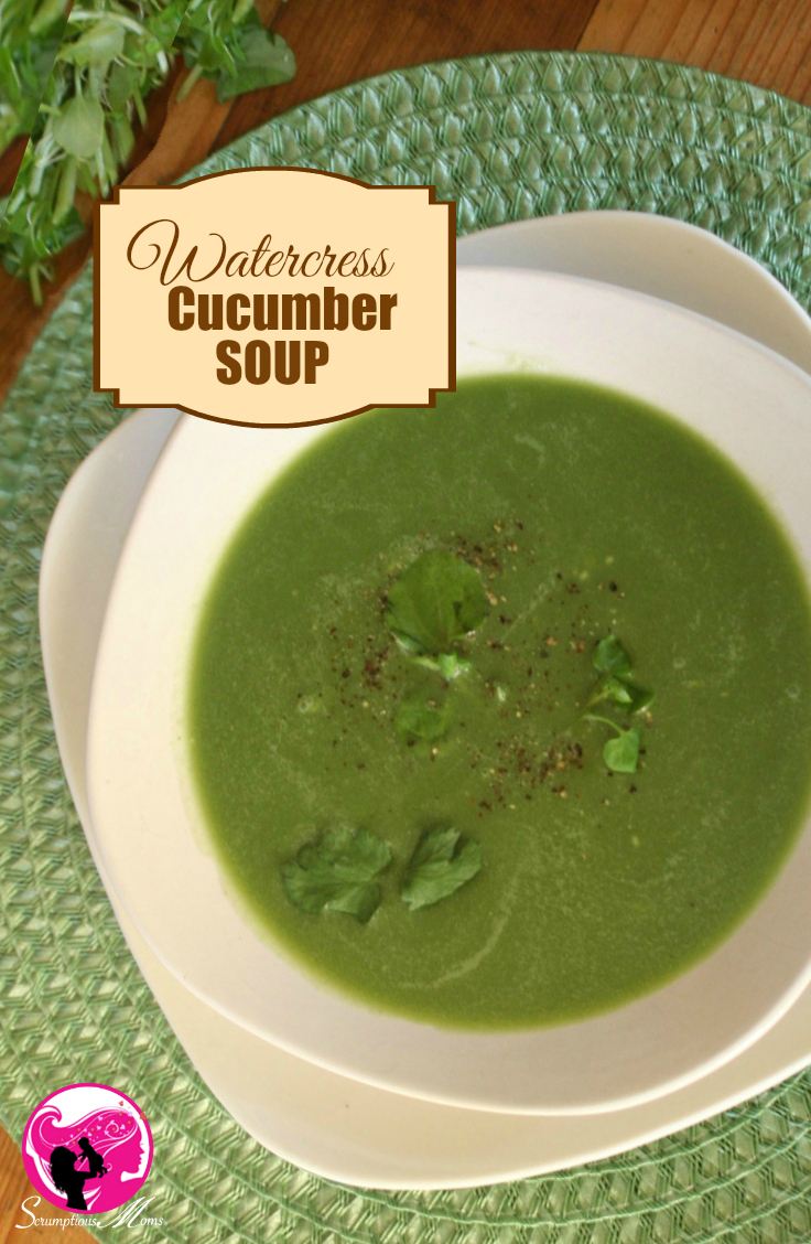 Watercress and Cucumber soup