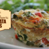 Kale And Red Peppers Frittata Cups