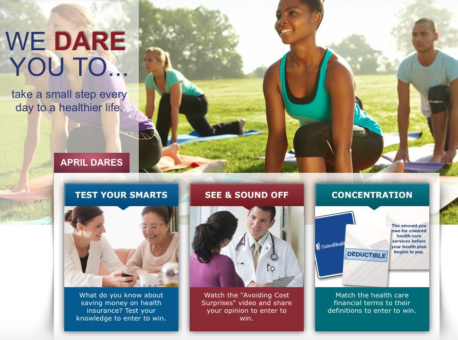 United Healthcare April dares