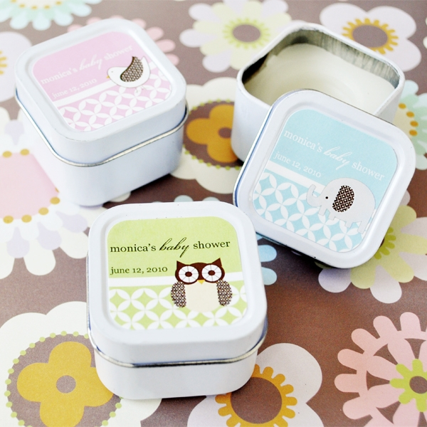 Baby animals personalized tin can candles