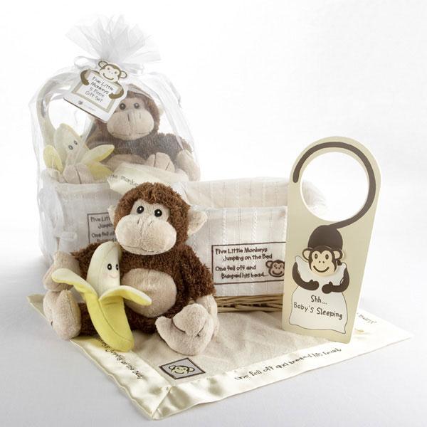 Five little Monkey baby gift set