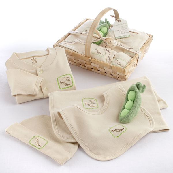 Organic baby blanket gift basket