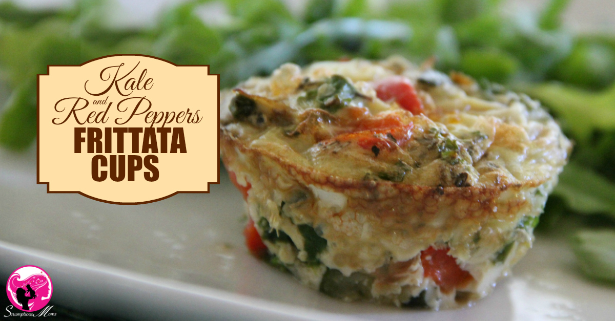 Kale and Red Peppers Frittata cups title image