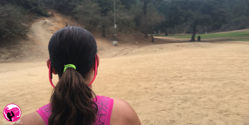 Hitting the trails with Aftershokz Pink TitaniumTrekz