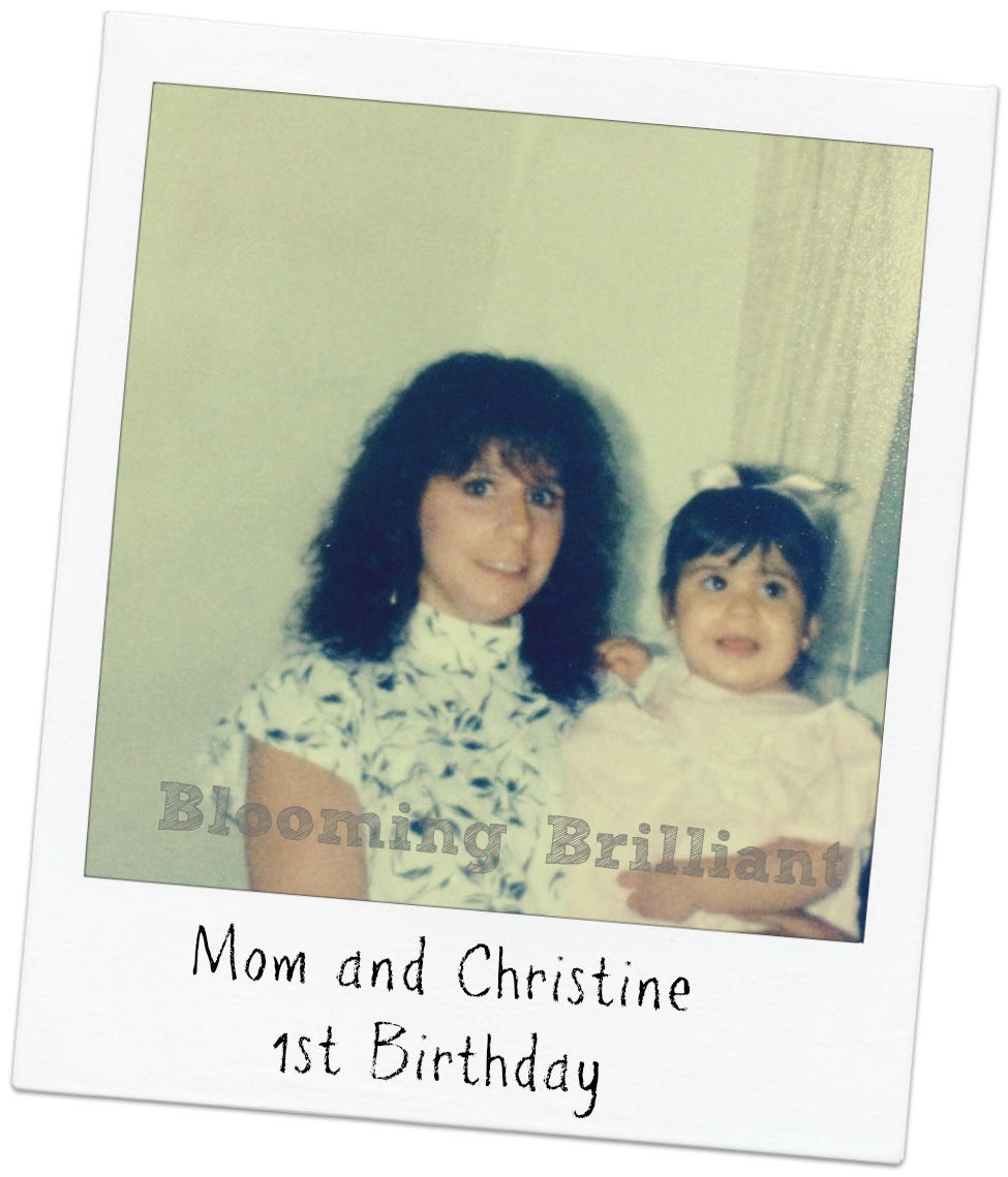 Christine and Mom on first birthday